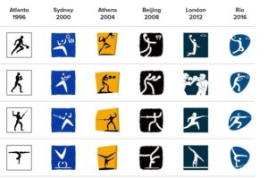 Stylized Olympic Sports Pictographs