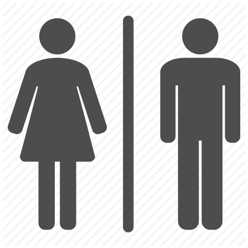 Female and Male Toilet Icons